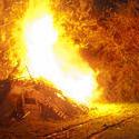 8867   Roaring bonfire with bright orange flames