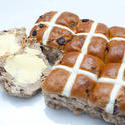 7873   Freshly baked batch of Hot Cross Buns