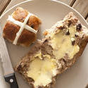 11776   Fresh buttered hot cross bun
