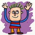 10558   cartoon waving guy