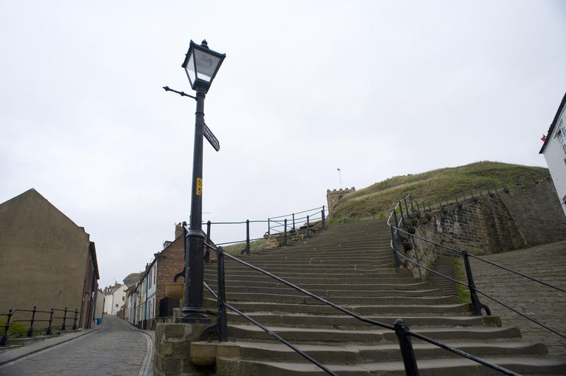 199 Church steps in Whitby leading from the town up Tate Hill to St Marys church