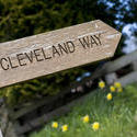 7972   Wooden Cleveland Way signpost