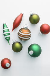 11688   Colorful selection of Christmas ornaments