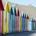 7956   Row of colourful Beach huts