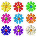 9075   colourful 3d flowers