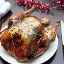 8654   Whole roast Christmas turkey