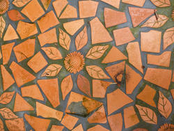 10915   Leaf and Flower Shaped Terracotta Tiles
