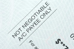 10807   Not negotiable cheque