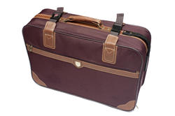 10681   Retro suitcase with leather attachments