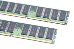 11102   Dual In line Memory Modules on White Background
