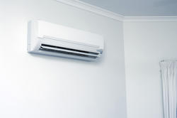 10659   Domestic Air Conditioner Hanging on White Wall