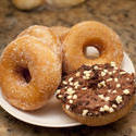 10410   Plate of assorted ring doughnuts