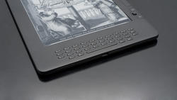 11103   High Tech Electronic Book on Black Table