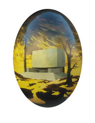 8131   Hand painted easter egg