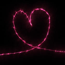 9410   electric pink heart