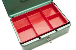 10808   Empty Metal Petty Cash Box with Key