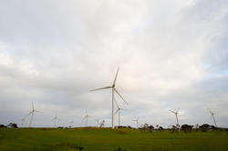 10790   Wind turbines at a wind farm