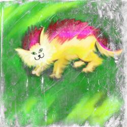9541   fluffy cat texture
