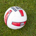 9966   England soccer ball on a green field
