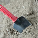 9854   Garden trowel with a plastic covered handle