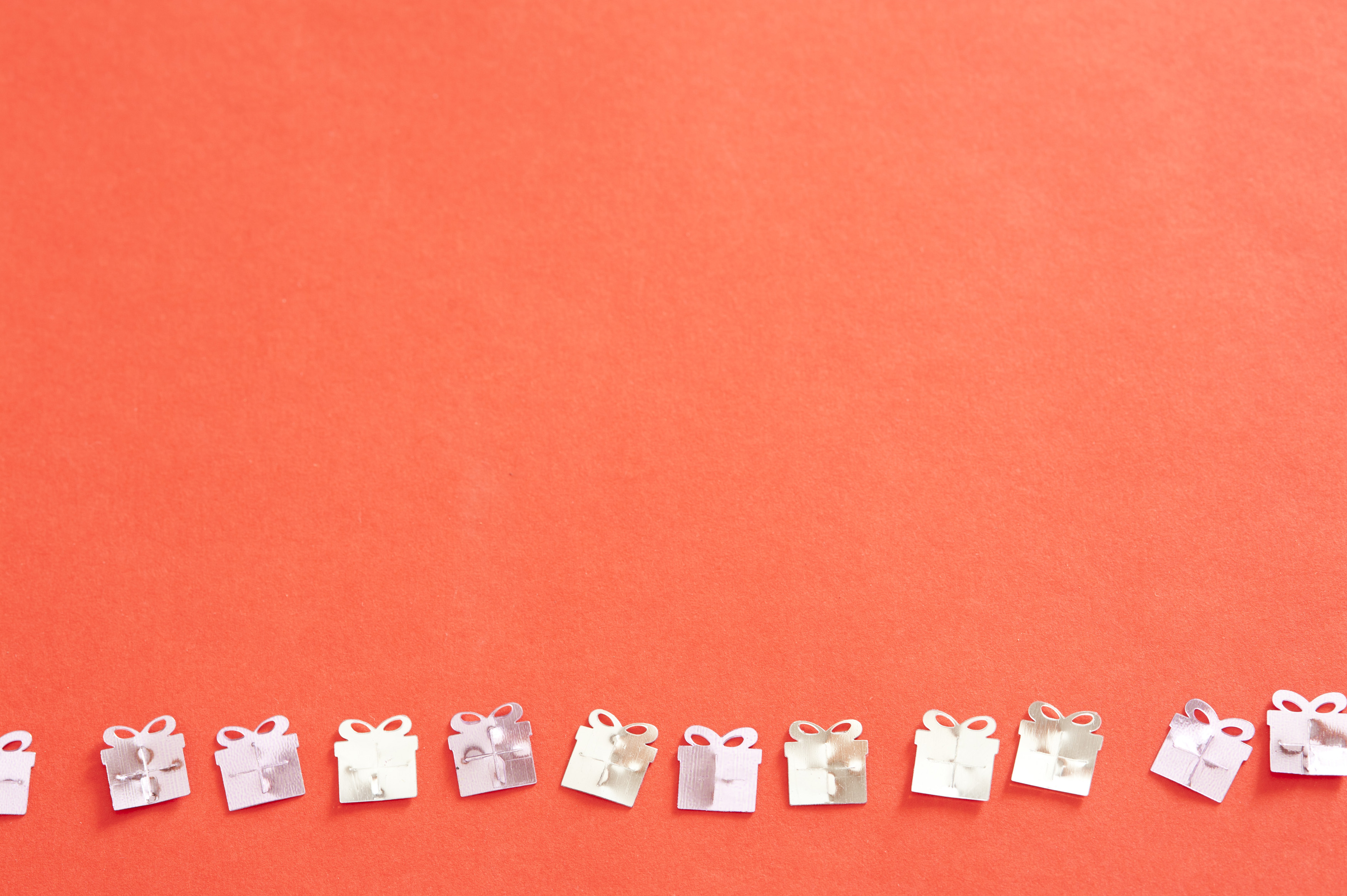 Free Stock Photo 11406 Silver Gift Confetti in a Row on ...