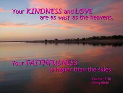 10737   God's Kindness, Love and Faithfulness
