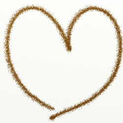 9413   gold glitter heart