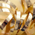 11204   Still Life of Shiny Gold Ribbon Curl