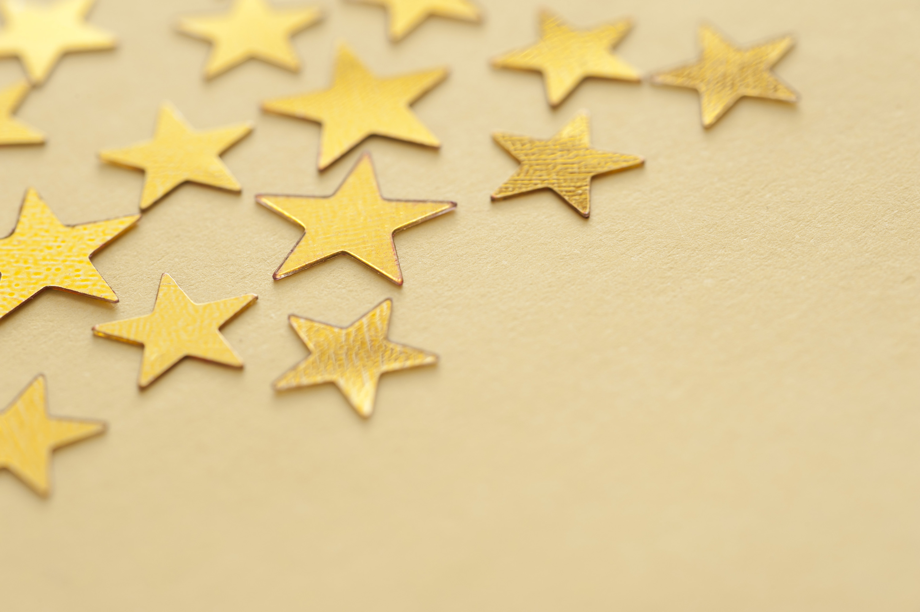 Free Stock Photo 11200 Gold Star Background With Copyspace