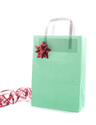 8660   Green Christmas gift bag