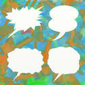 8974   grunge speech bubbles