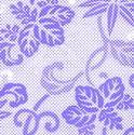 9101   halftone floral pattern
