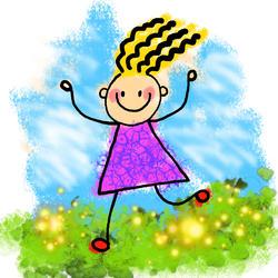 9480   happy stick girl