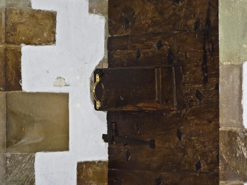 <p>Heavy Wooden Door</p>At the medieval Church of St. Mary in Ellingham, near Ringwood, the entrance door is not large but it is very heavy, being made out of some very substantial timbers.