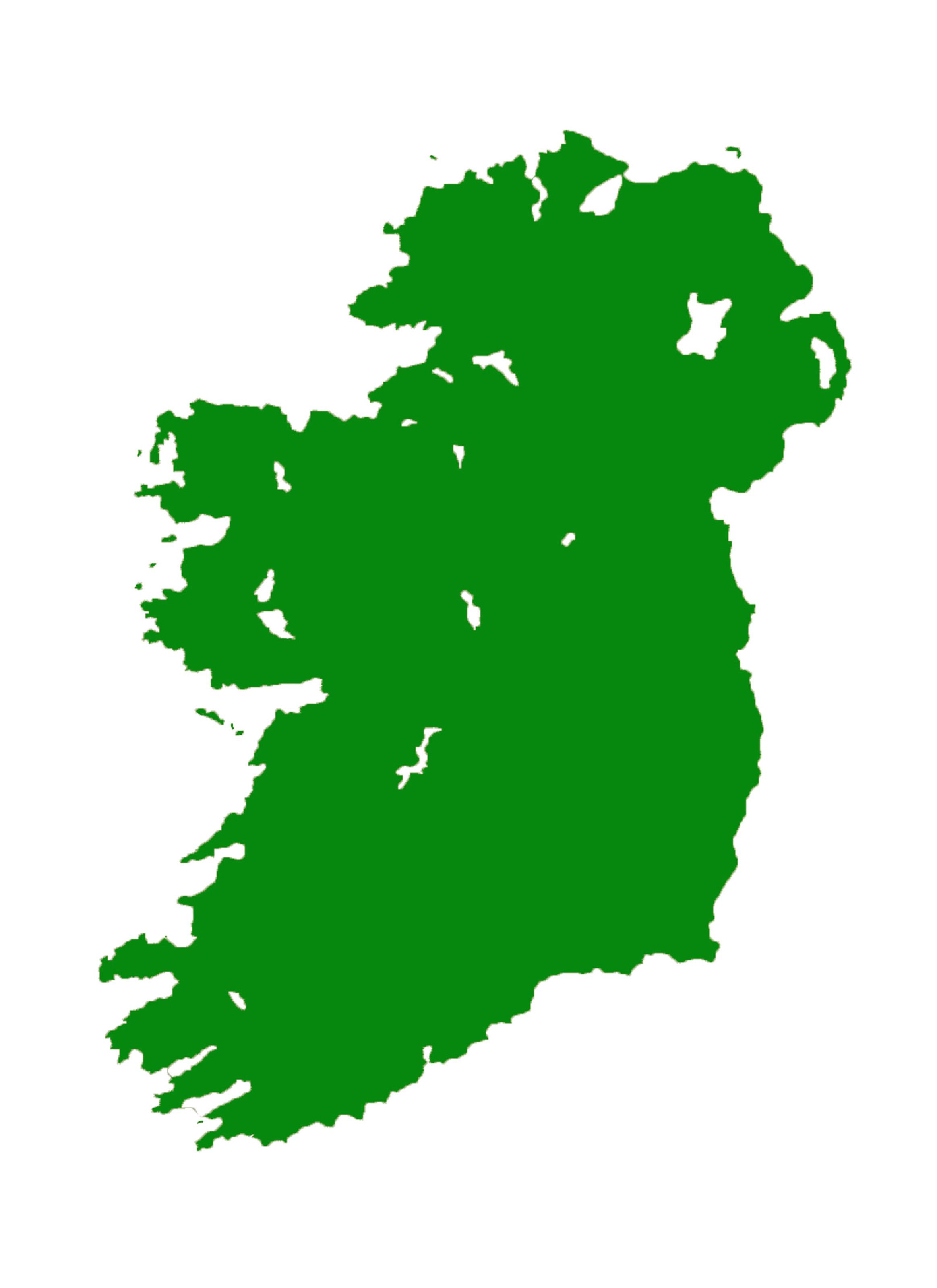 Image result for map of ireland white bg