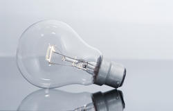 10743   Still Life of light bulb with Glowing filament