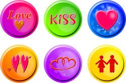 9417   love buttons