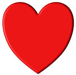 9418   love heart 3d