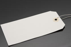 10693   Blank cardboard gift tag or label