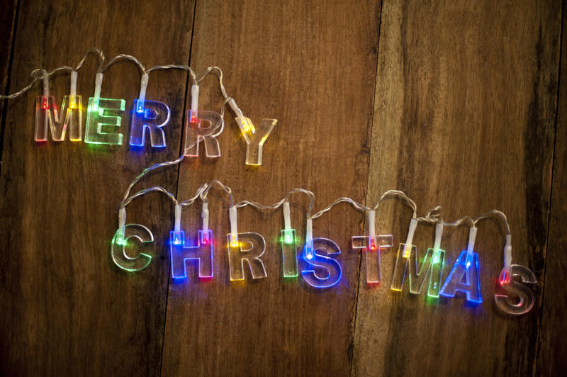 Free Stock Photo 11706 Merry Christmas Lights Freeimageslive