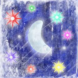 9544   moon and stars