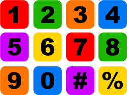 9422   number icon set