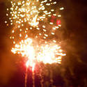8893   Bursts of orange fireworks