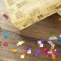 11473   Birthday Gifts and Confetti on Wooden Table