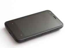 10801   Black Mobile Phone Isolated on White Background