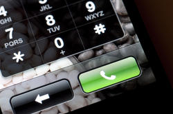 10827   Back and Call Buttons on a Touch Screen Phone