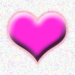 9423   pink bevel heart