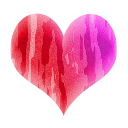 9424   pink patterned heart