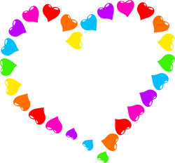 9425   rainbow heart