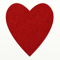 9426   red glitter heart